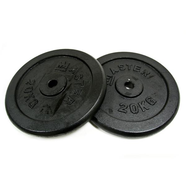 MASTER ocelové závažie 2x20kg - 30mm