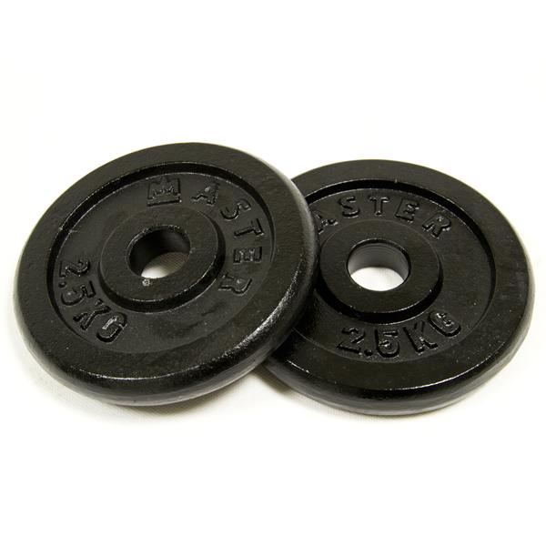 MASTER ocelové závažie 2x2,5kg - 30mm
