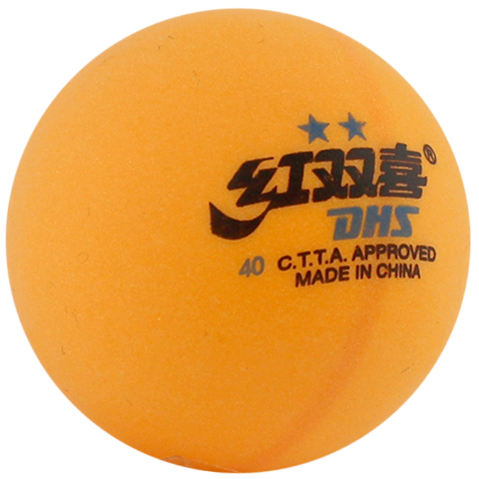 Loptičky na stolný tenis DOUBLE HAPPINES ** žlté 6 ks