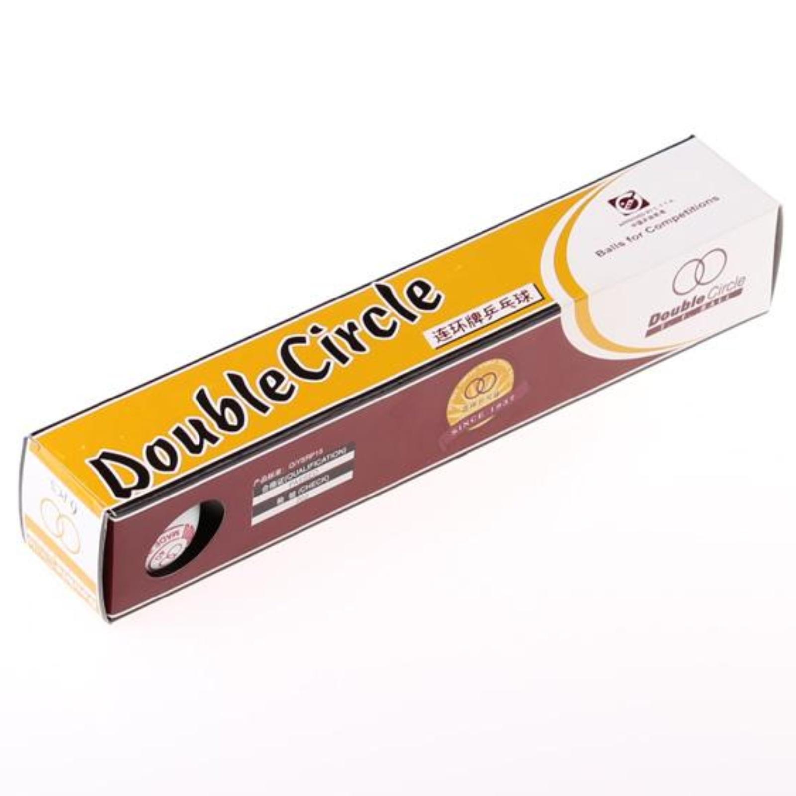 Loptičky na stolný tenis DOUBLE Circle biele 6ks