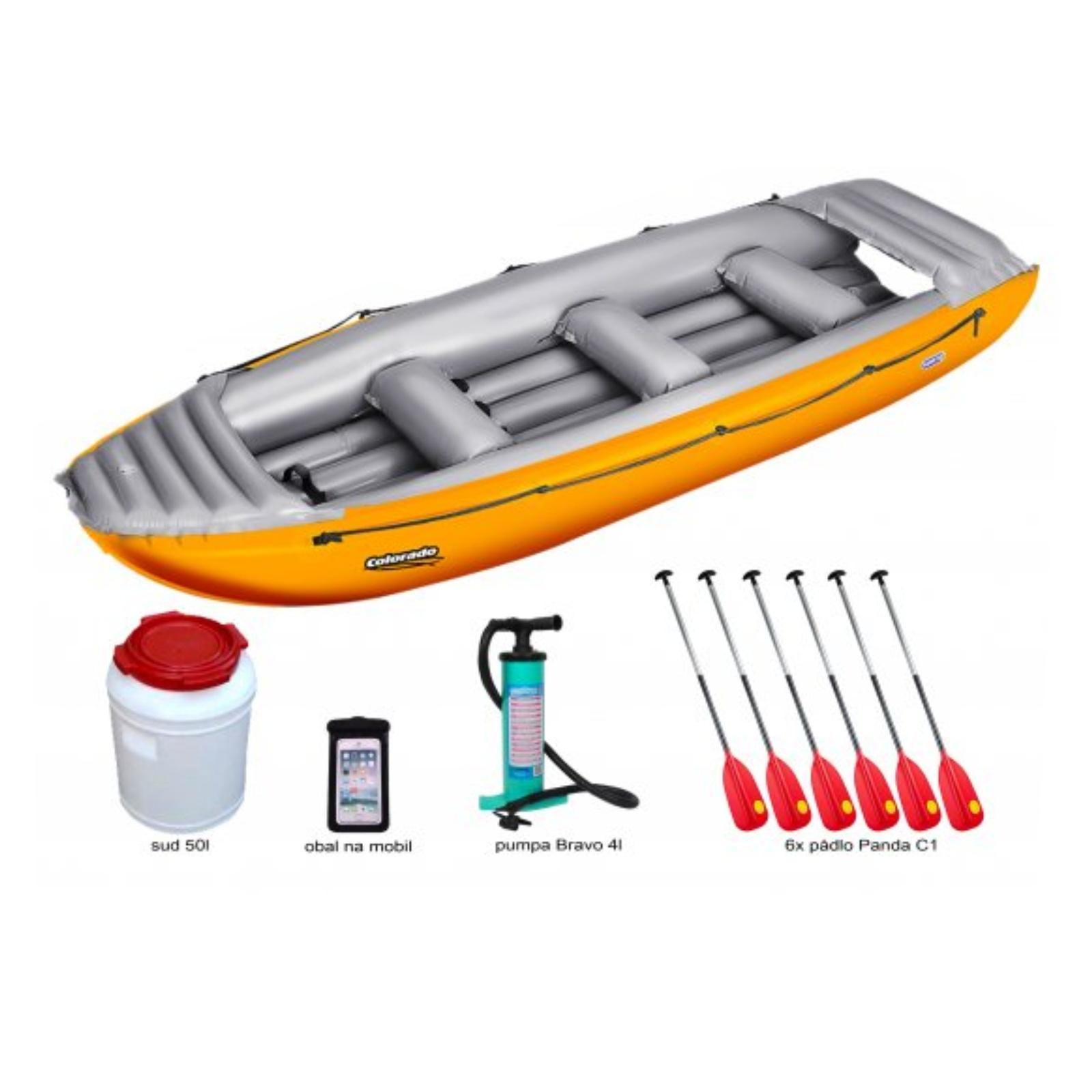 Nafukovací čln GUMOTEX Colorado 450 SET - oranžovo-šedý