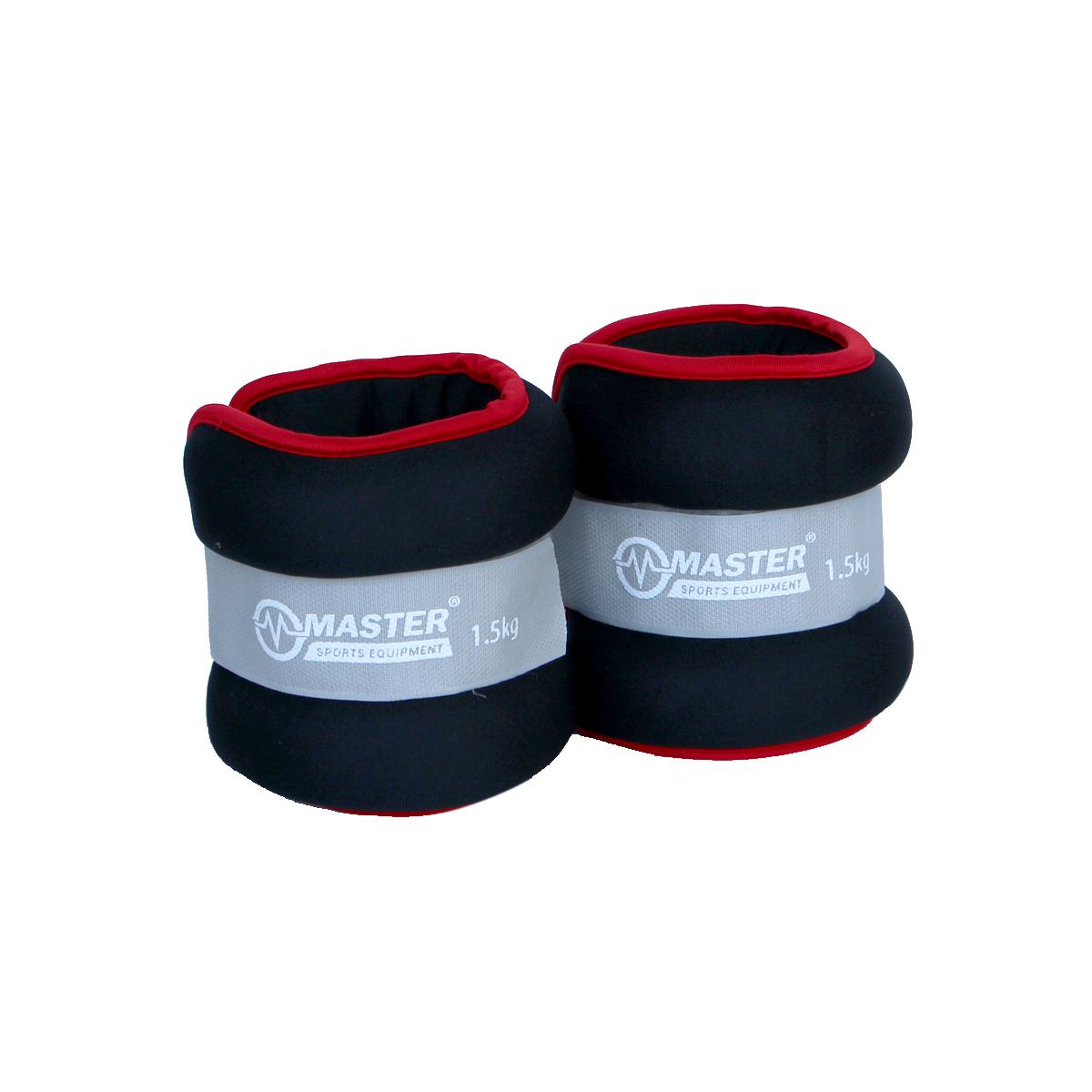 Kondičná záťaž na zápästie a nohy MASTER 2 x 1,5 kg - neopren