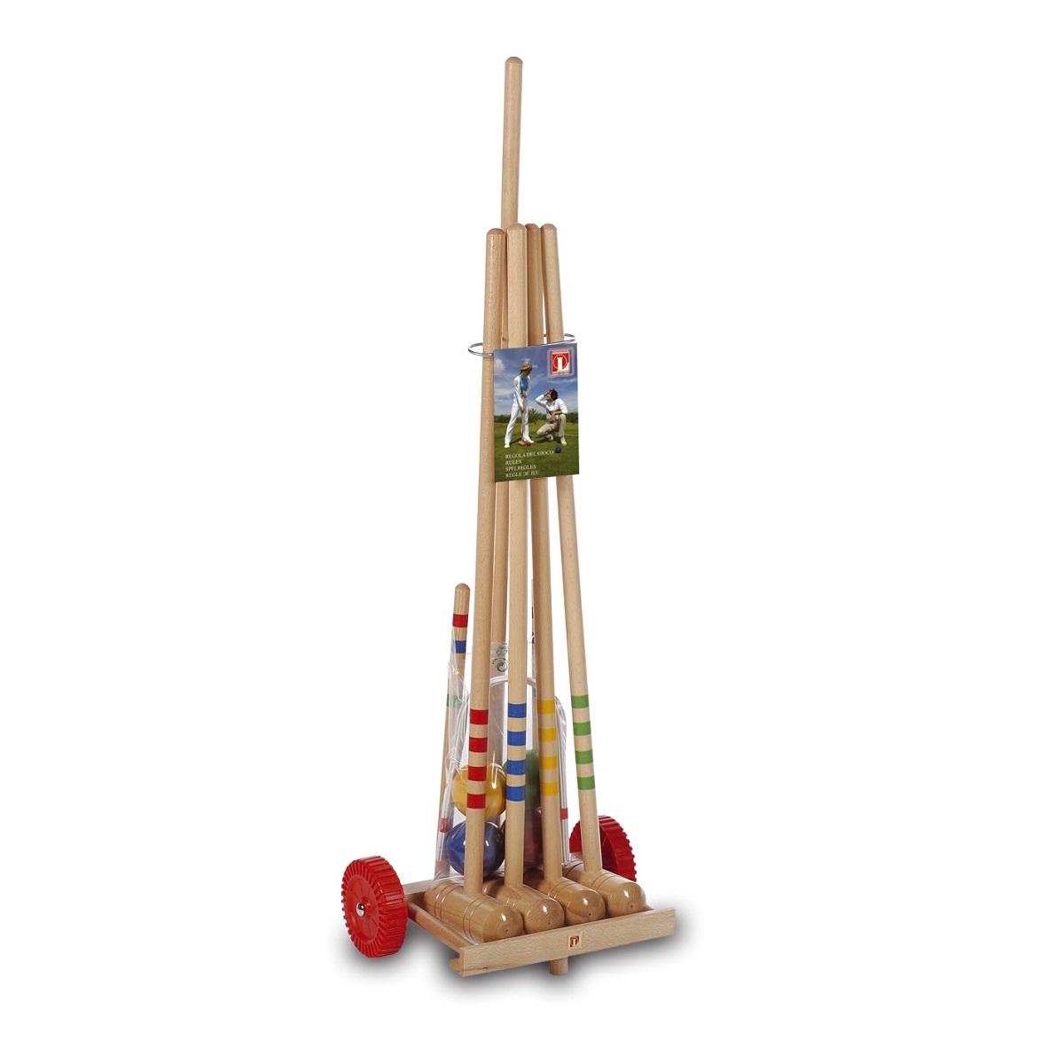 Kroket LUCIO LONDERO pre 4 hráčov - drevený vozík