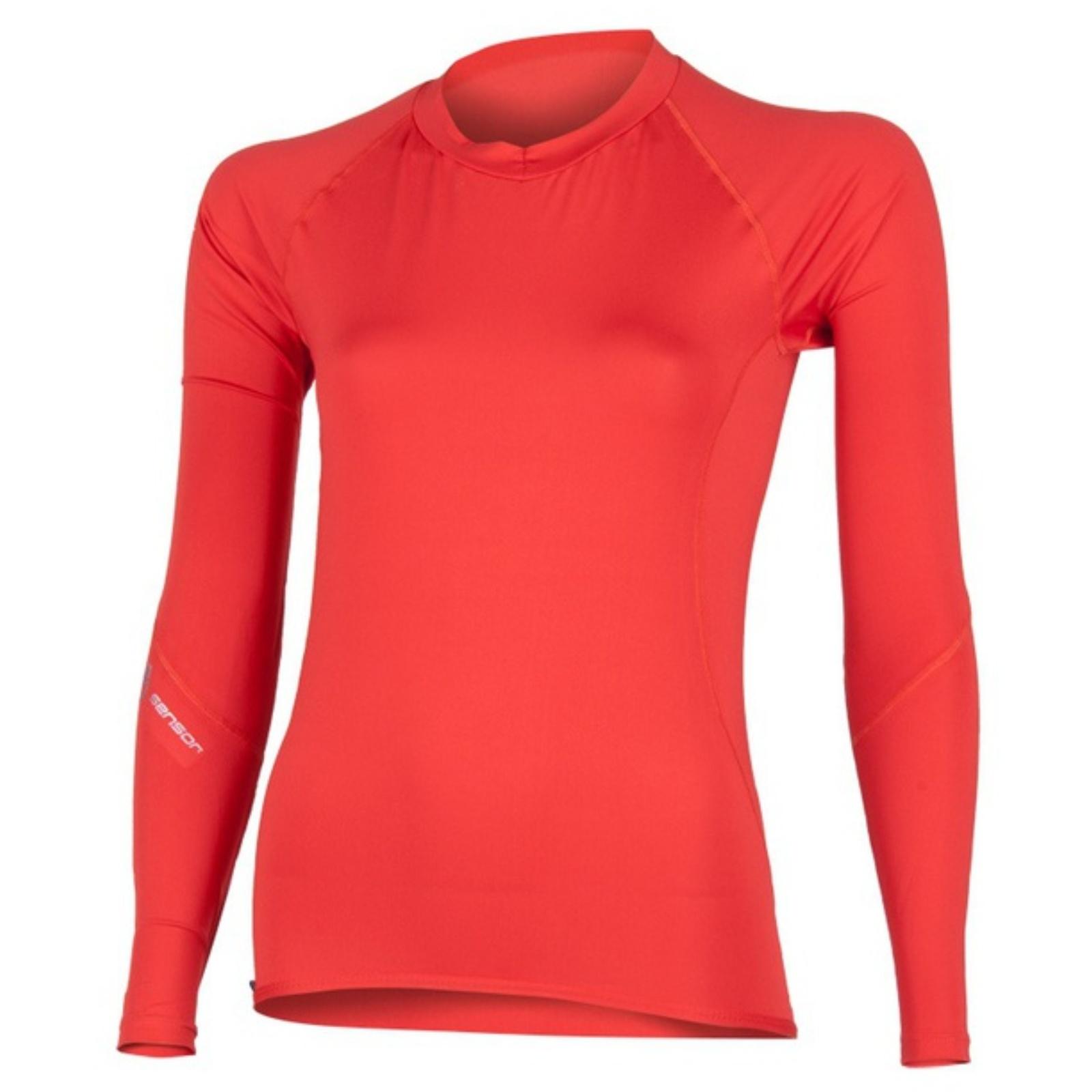 Tričko dlhý rukáv SENSOR Coolmax Fresh dámske červené
