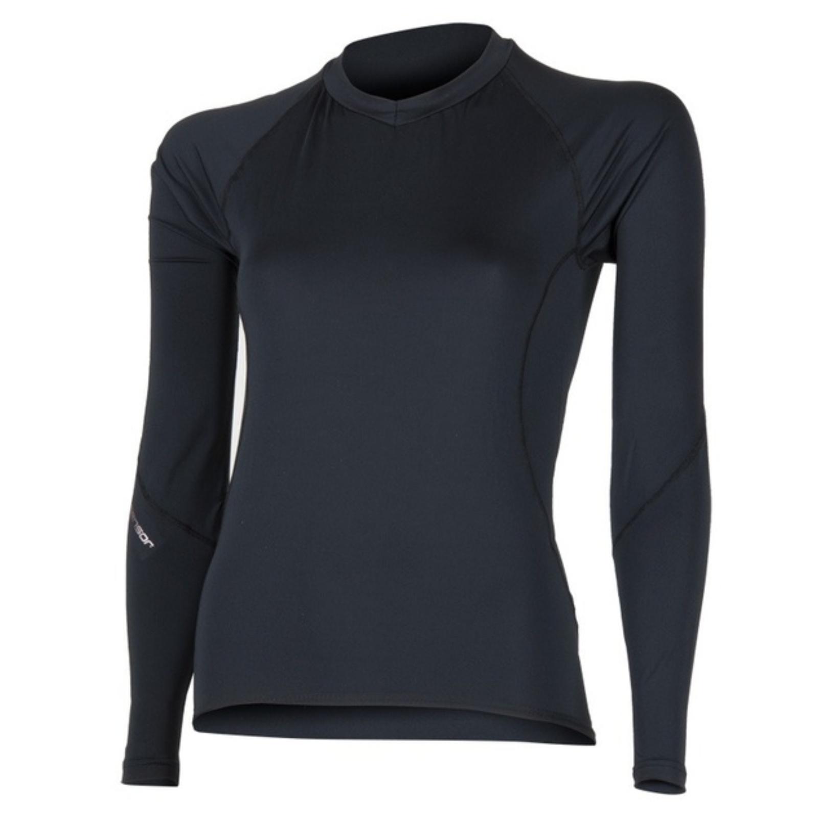 Tričko dlhý rukáv SENSOR Coolmax Fresh dámske čierne