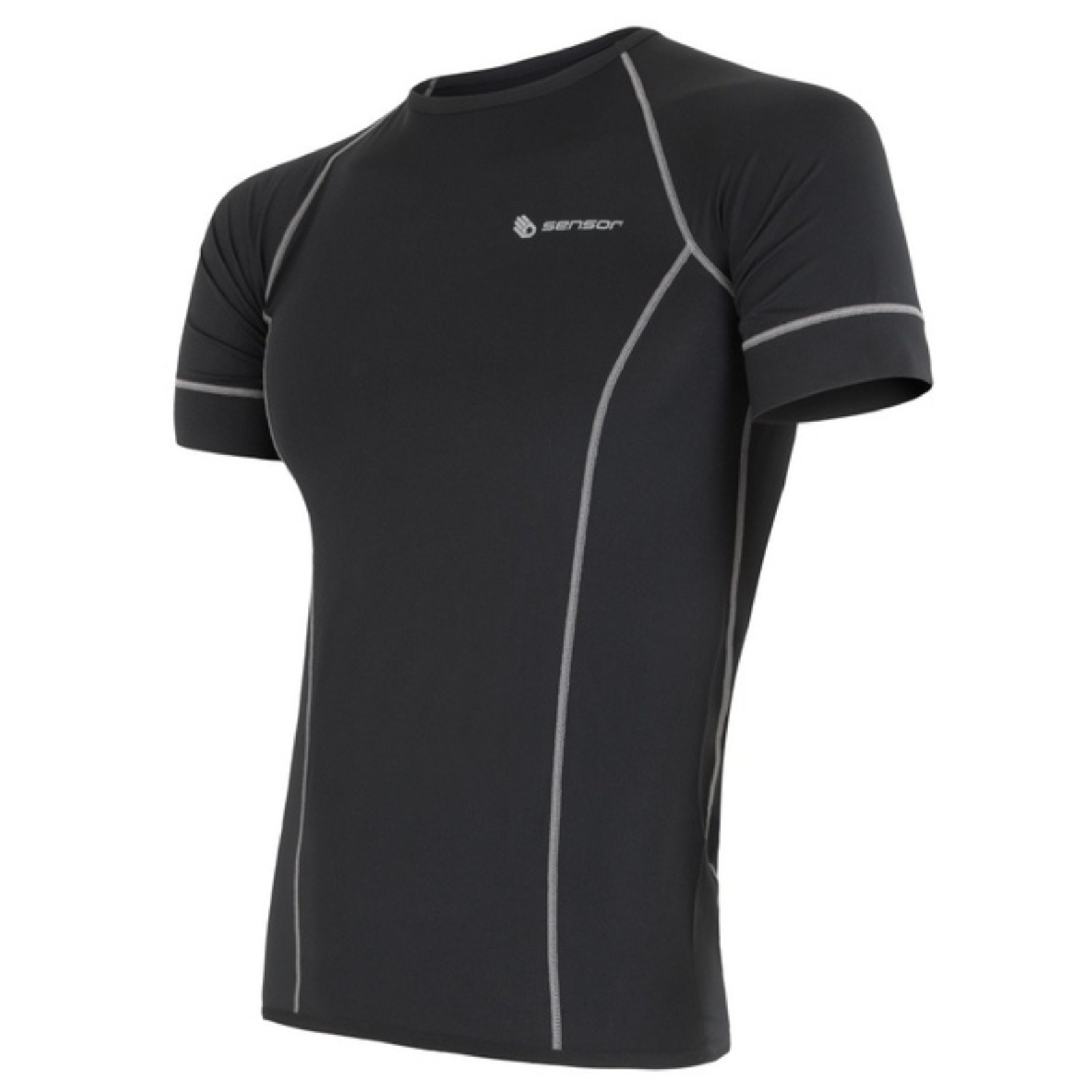 Tričko krátky rukáv SENSOR Coolmax Fresh pánske čierne