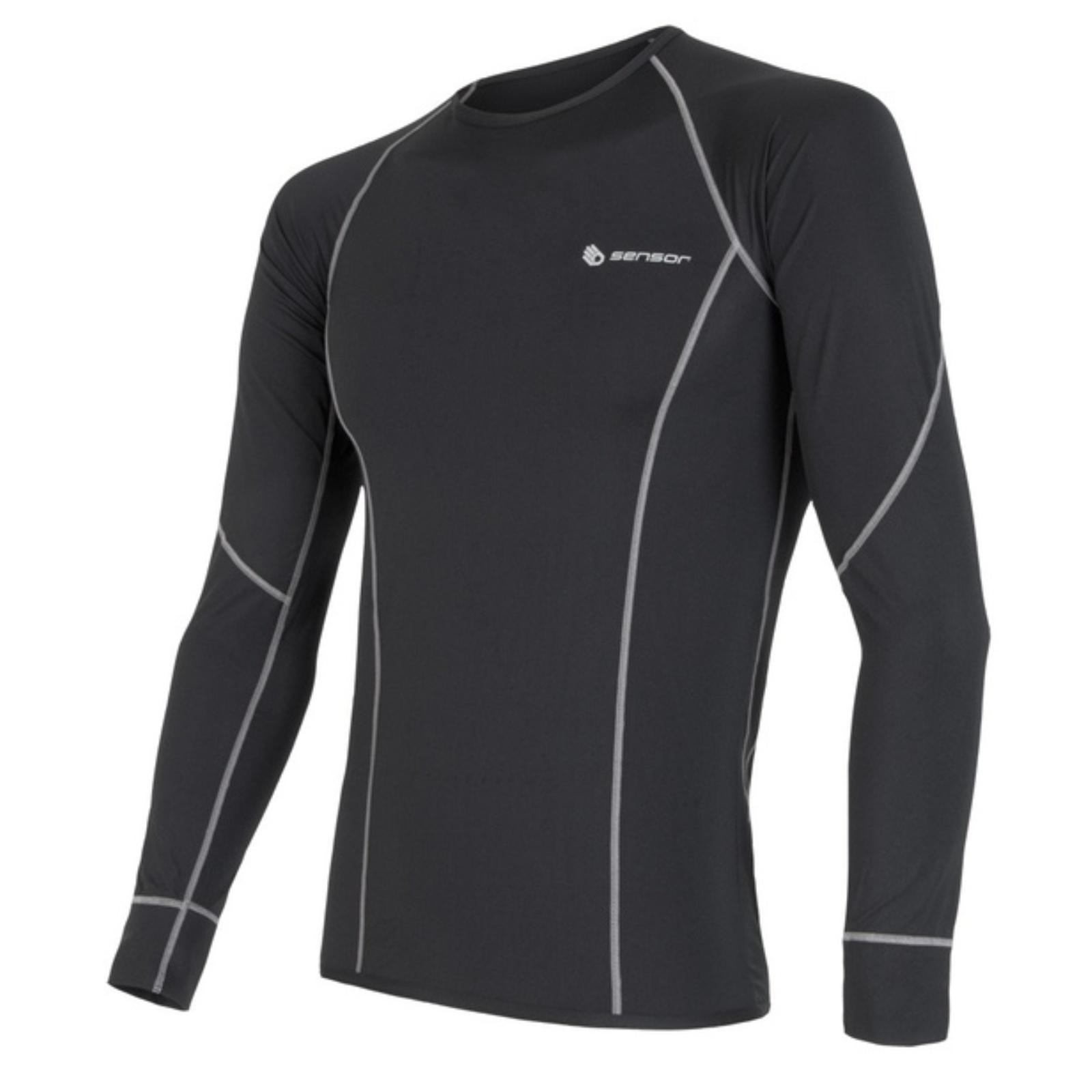 Sensor Coolmax Fresh triko dlouhý rukáv pánské černá