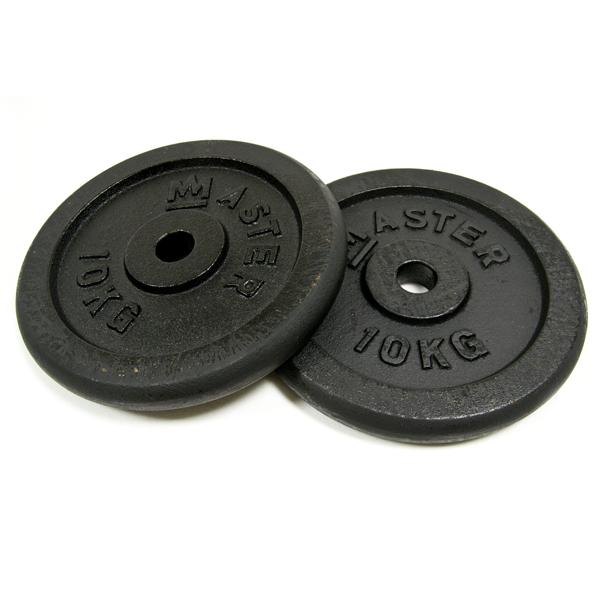 MASTER ocelové závažie 2x 1,25 - 25kg - 30mm