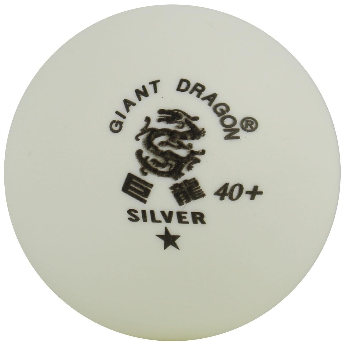 Loptičky na stolný tenis DRAGON Cup* biele 6 ks