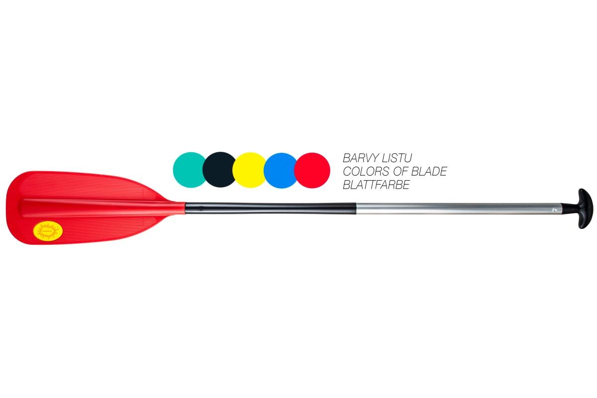 Pádlo PANDA pre kánoe - raft červené - veľ. 165 cm