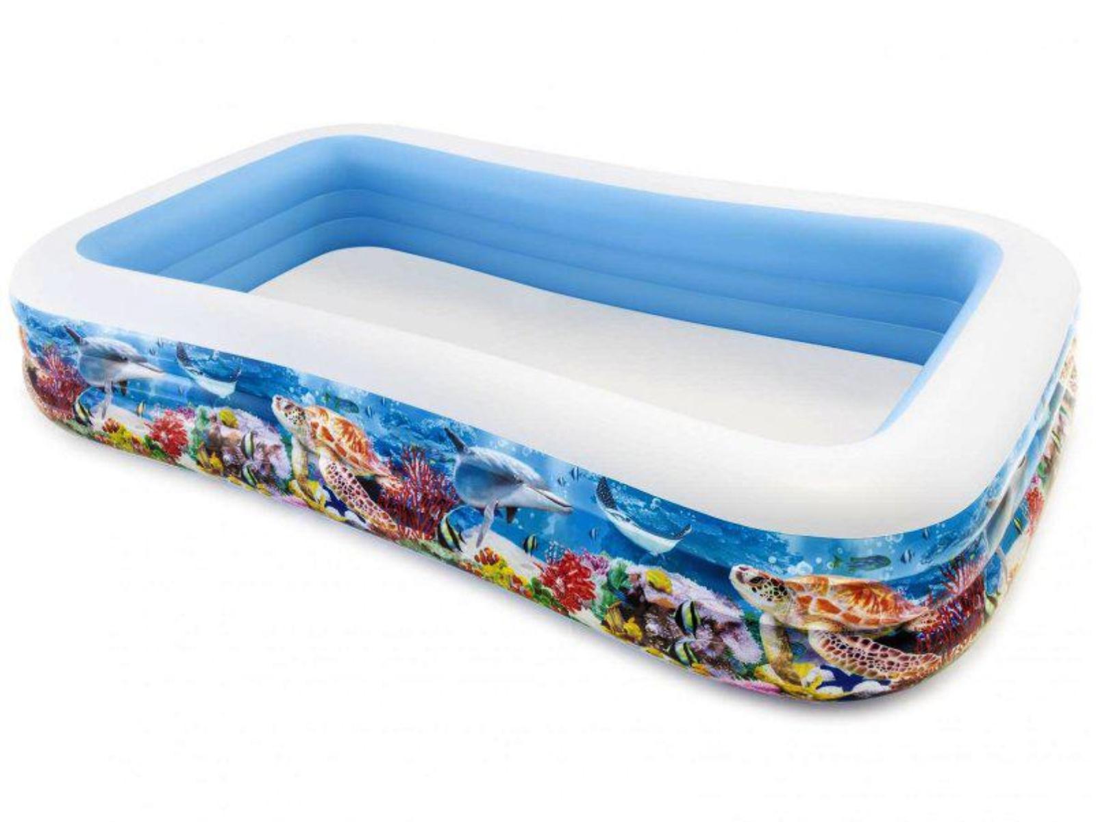 Nafukovací bazén INTEX Family obdĺžnik potlač 305 x 183 x 56 cm