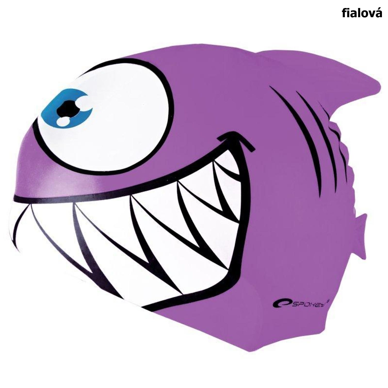 Plavecká čiapka SPOKEY Rekinek - fialová