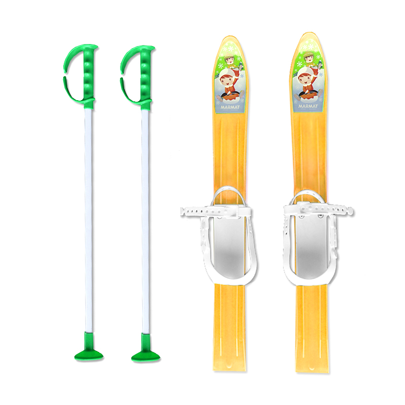 Baby Ski 60 cm - detské plastové lyže - žlté