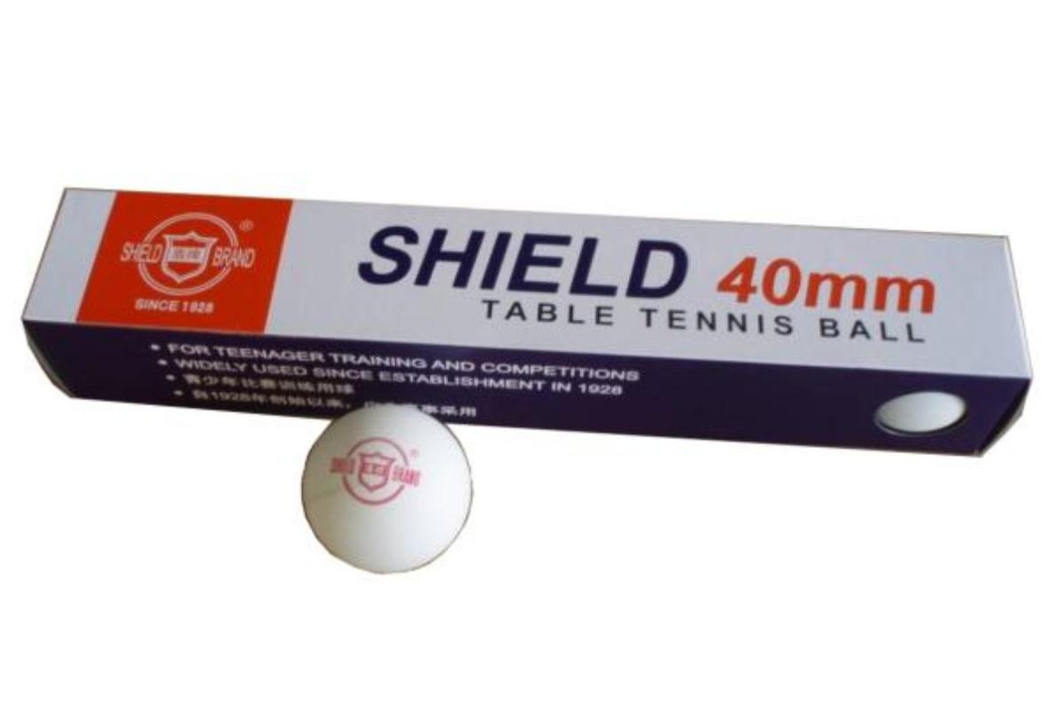Loptičky na stolný tenis SHIELD bezšvíkové 6ks