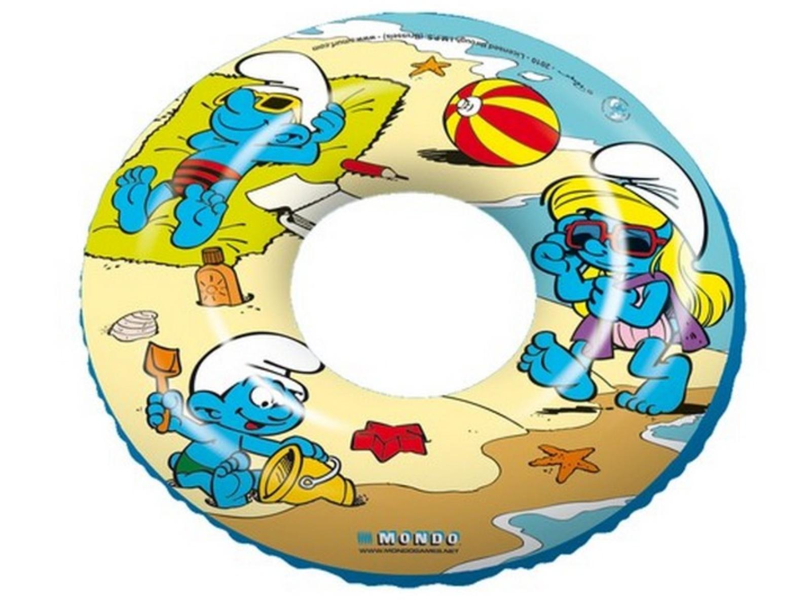 Nafukovací kruh s potlačou ŠMOLKOVIA 50 cm