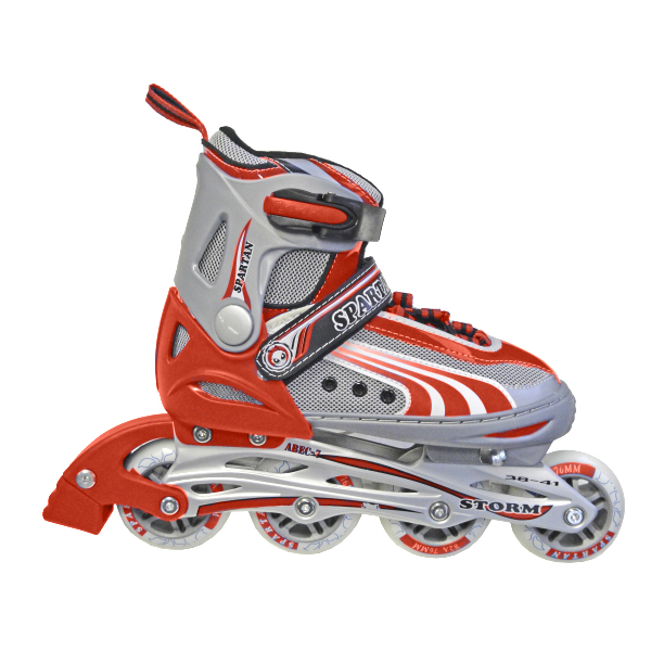 Detské kolieskové korčule SPARTAN Storm červené 30-33