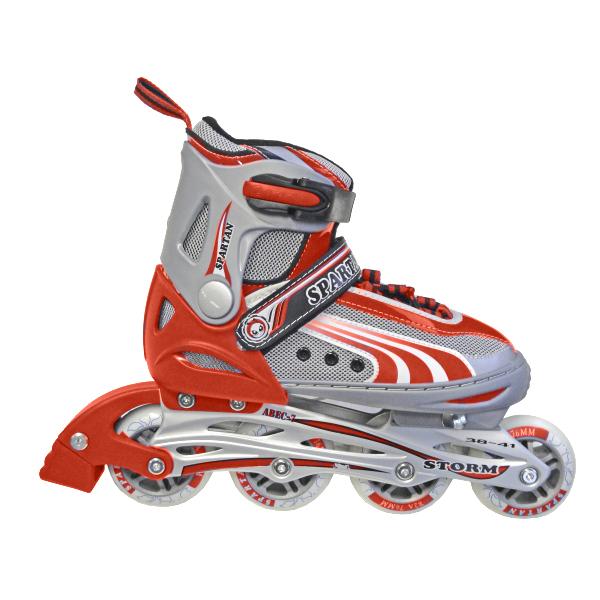 Detské kolieskové korčule SPARTAN Storm červené 34-37