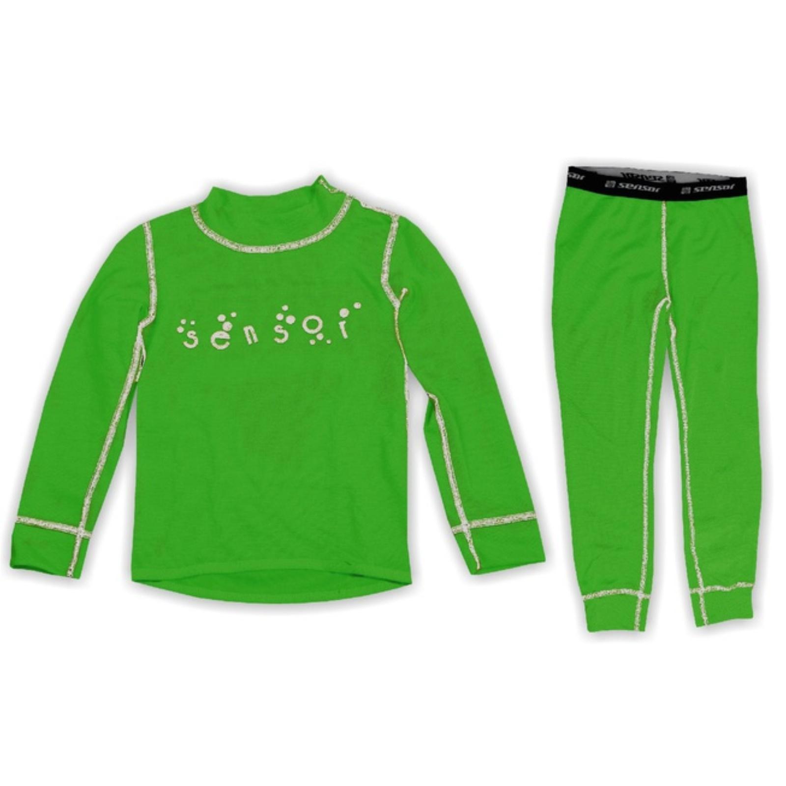 Komplet SENSOR Double Face detský zelený - veľ. 110