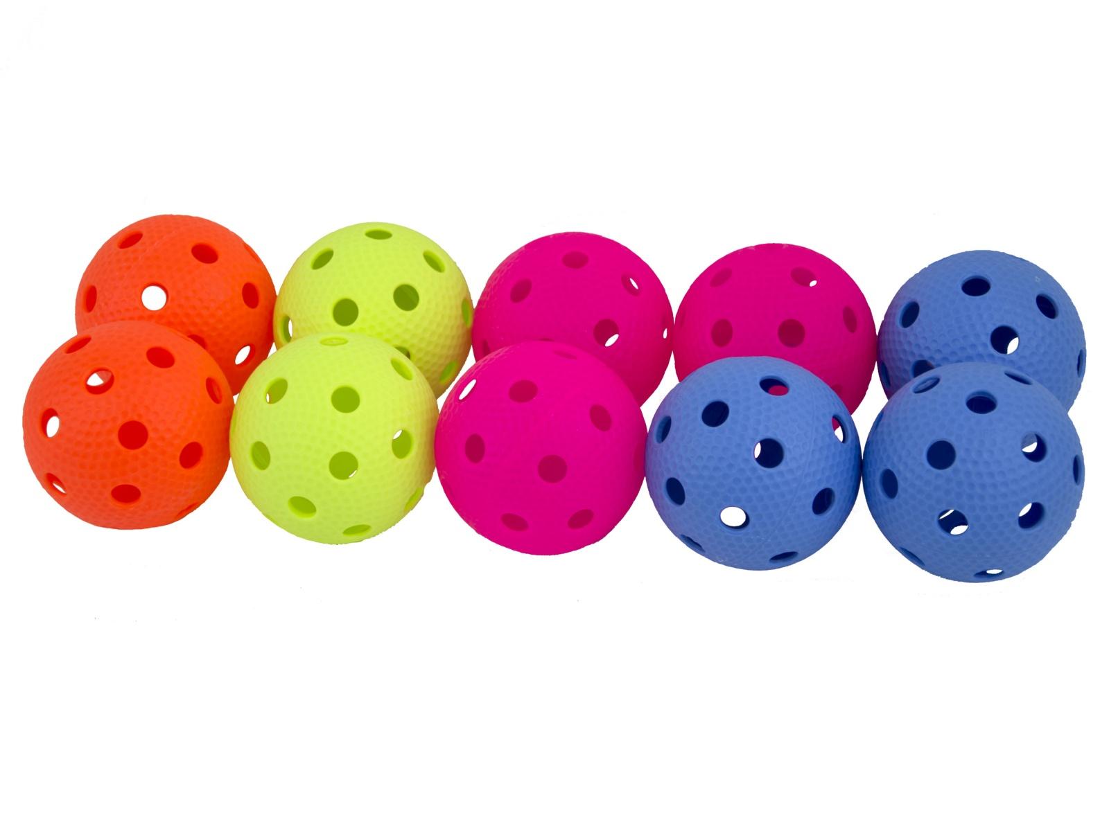 Florbalová loptička SALMING Aero Ball 10 ks, farebný mix