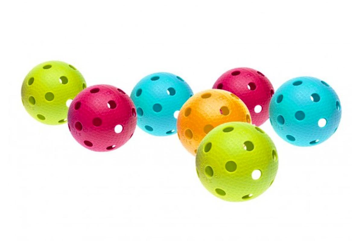 Florbalová loptička SALMING Aero Ball, box 200 ks, farebný mix