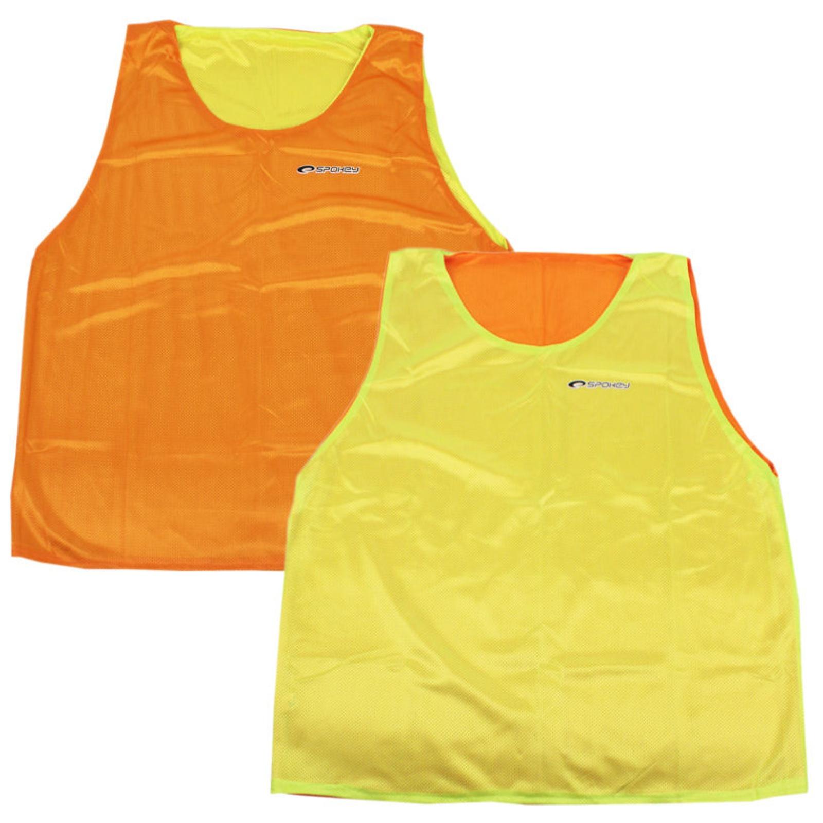 Rozlišovacia vesta SPOKEY Shiny D - obojstranná, žlto-oranžová
