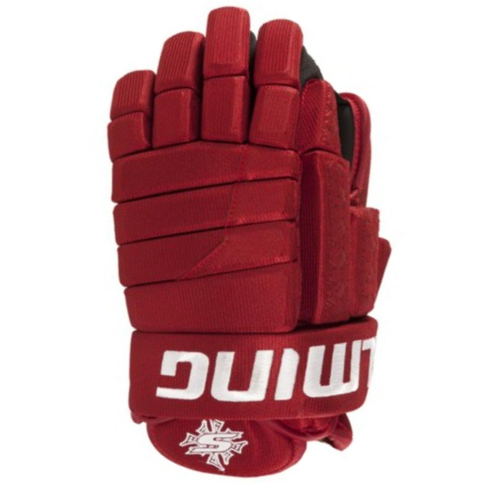 Hokejové rukavice SALMING Glove M11 - červené vel'. 13''