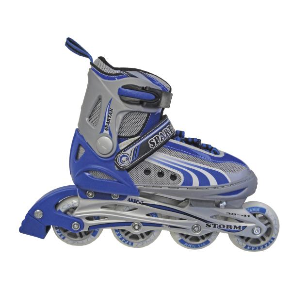 Detské kolieskové korčule SPARTAN Storm modré 34-37