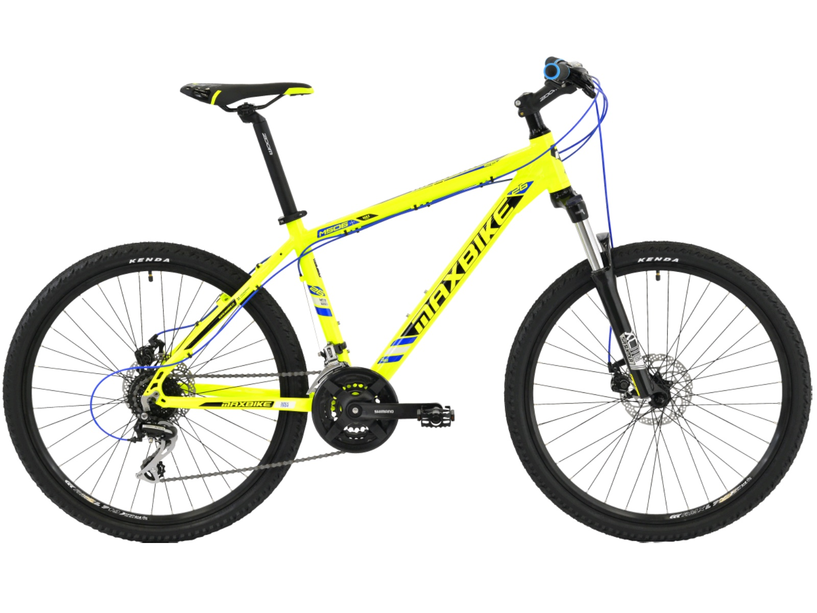 """Horský bicykel MAXBIKE Apo 26 biele - veľ. rámu 17"""""""