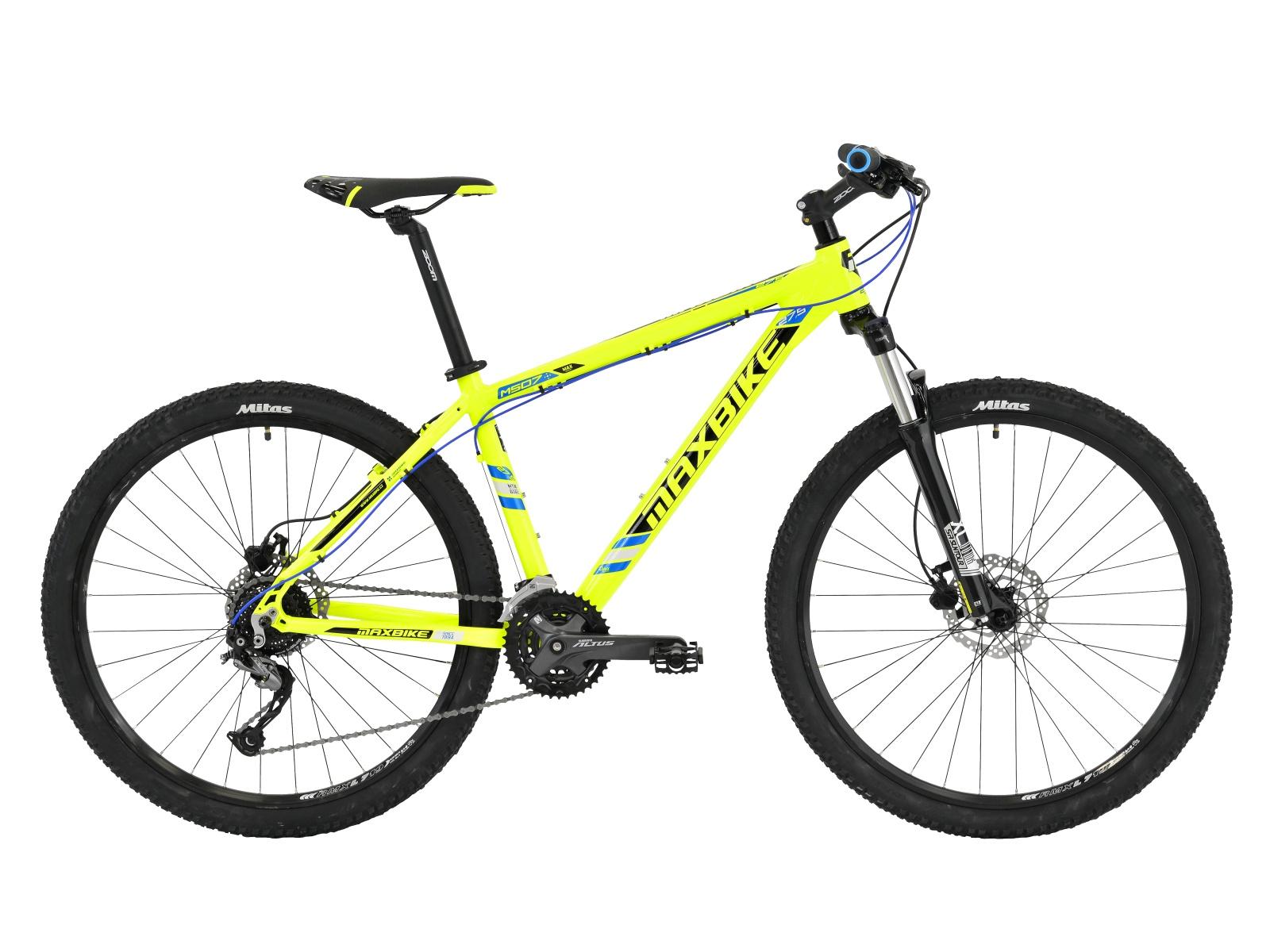 "Horský bicykel MAXBIKE Tahoe 27.5 žlté - veľ. rámu 17"""