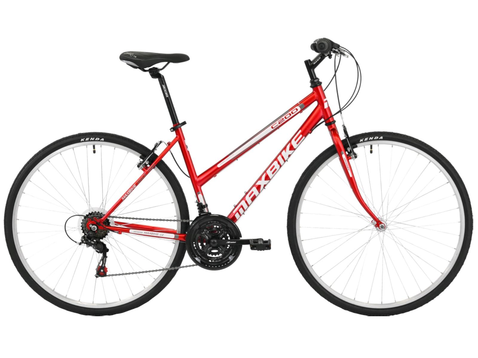 """Krosový bicykel MAXBIKE Basic dámsky červené - veľ. rámu 18"""""""