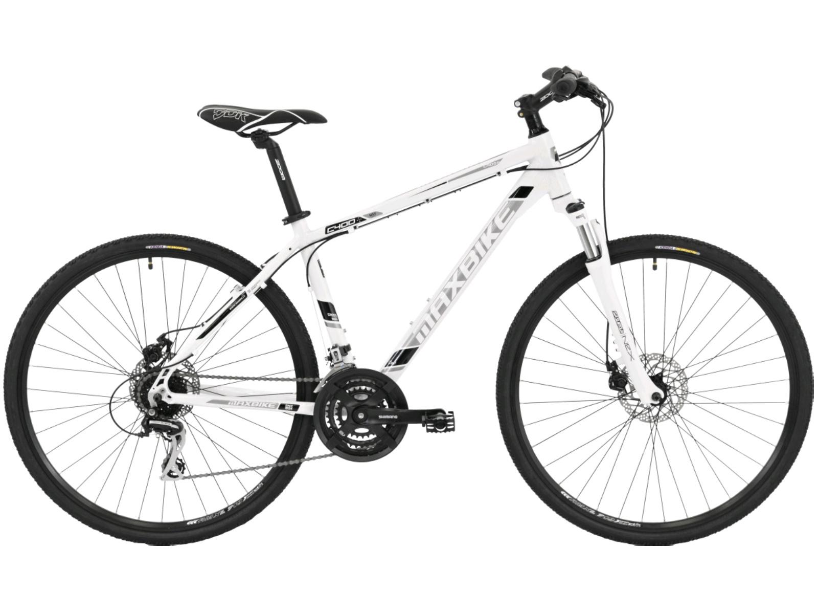 Krosový bicykel MAXBIKE Aven biele - veľ. rámu 16''