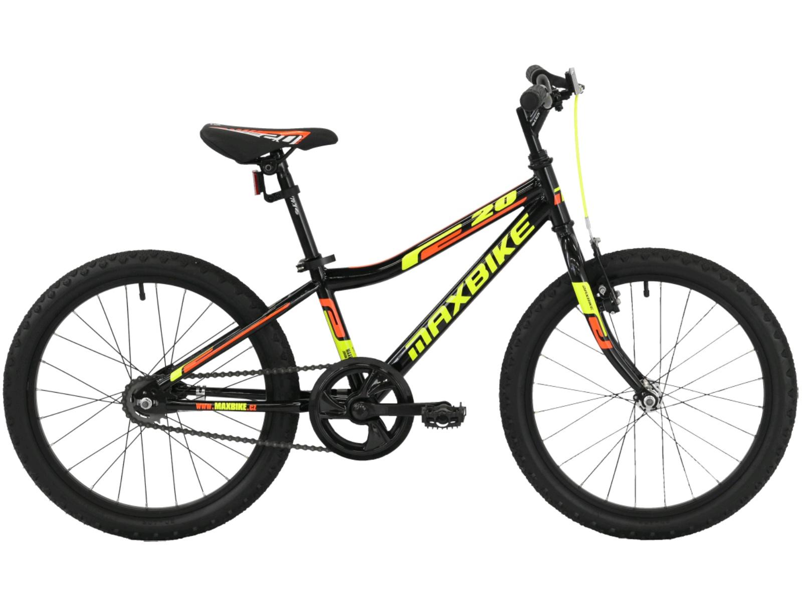 "Detský bicykel MAXBIKE Junior Basic 20"" - čierne"