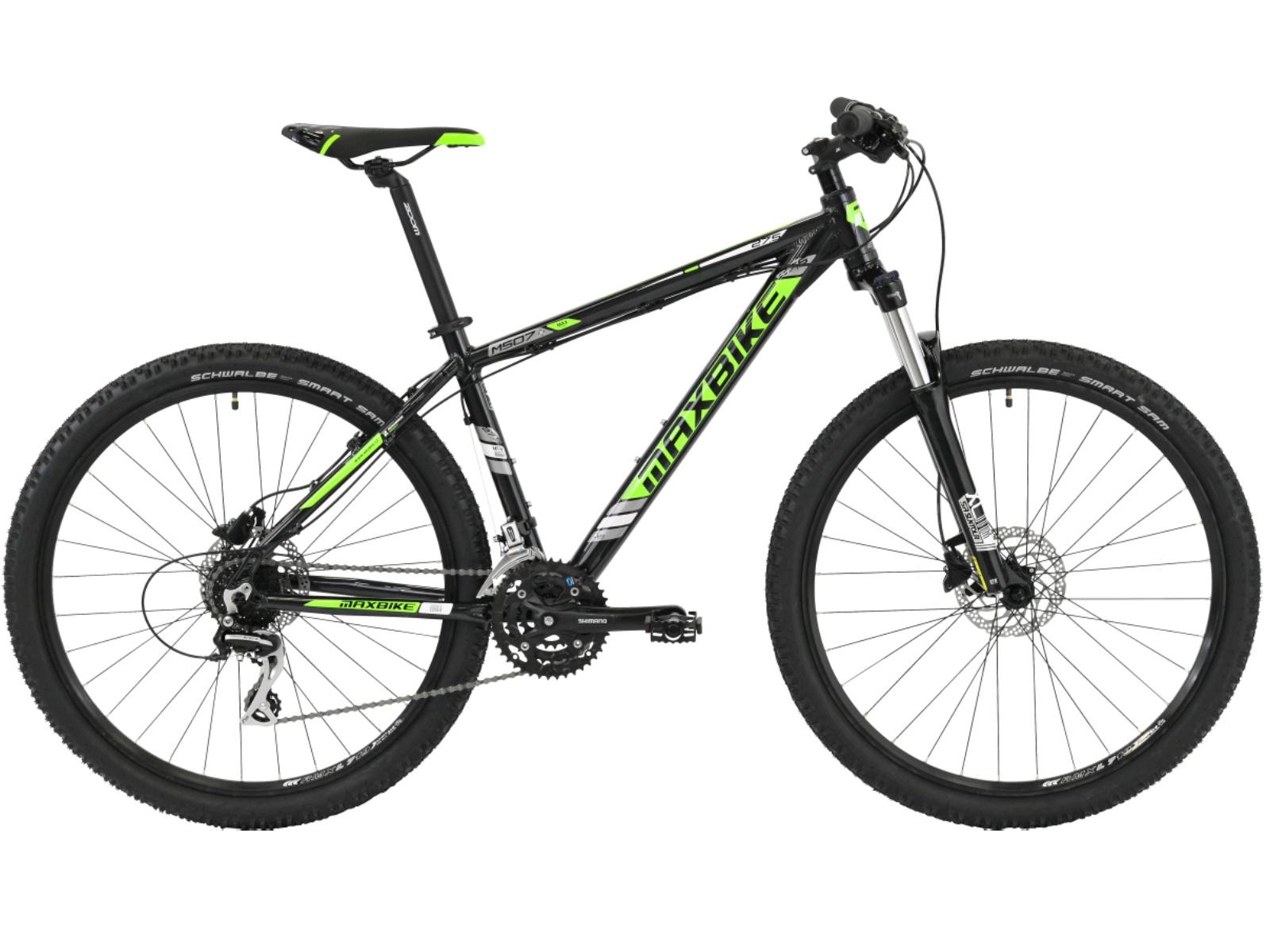 "Horský bicykel MAXBIKE Leuser 27.5 biele - veľ. rámu 17"""