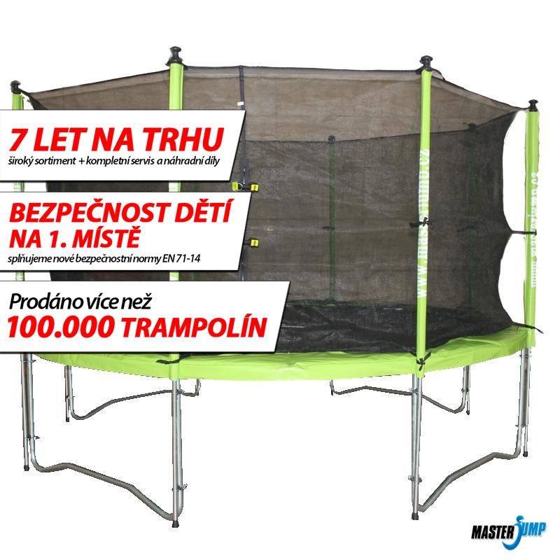 SET trampolína MASTERJUMP 365 cm + ochranná sieť vnútorná