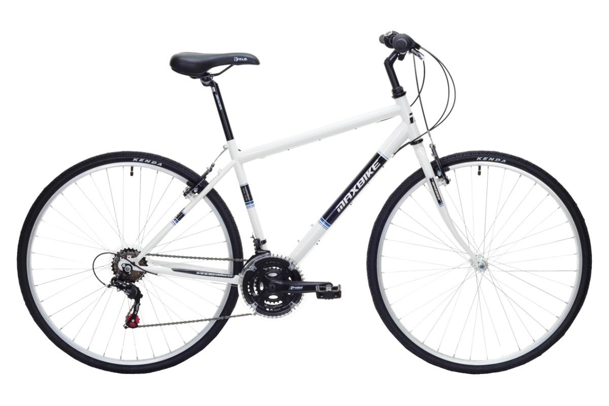 """Krosový bicykel MAXBIKE Basic II veľkosť rámu 20 """"- biely"""