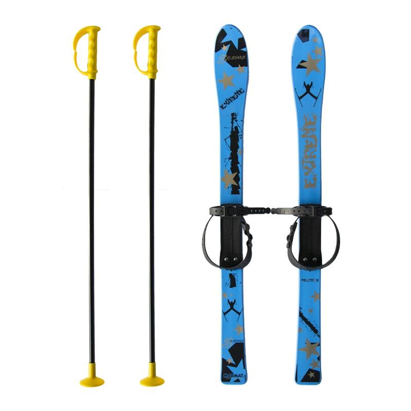 Baby Ski 90 cm - detské plastové lyže - modré