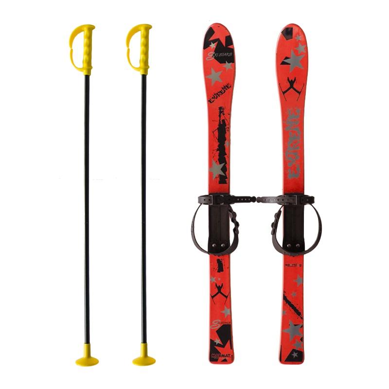 Baby Ski 90 cm - detské plastové lyže - červené