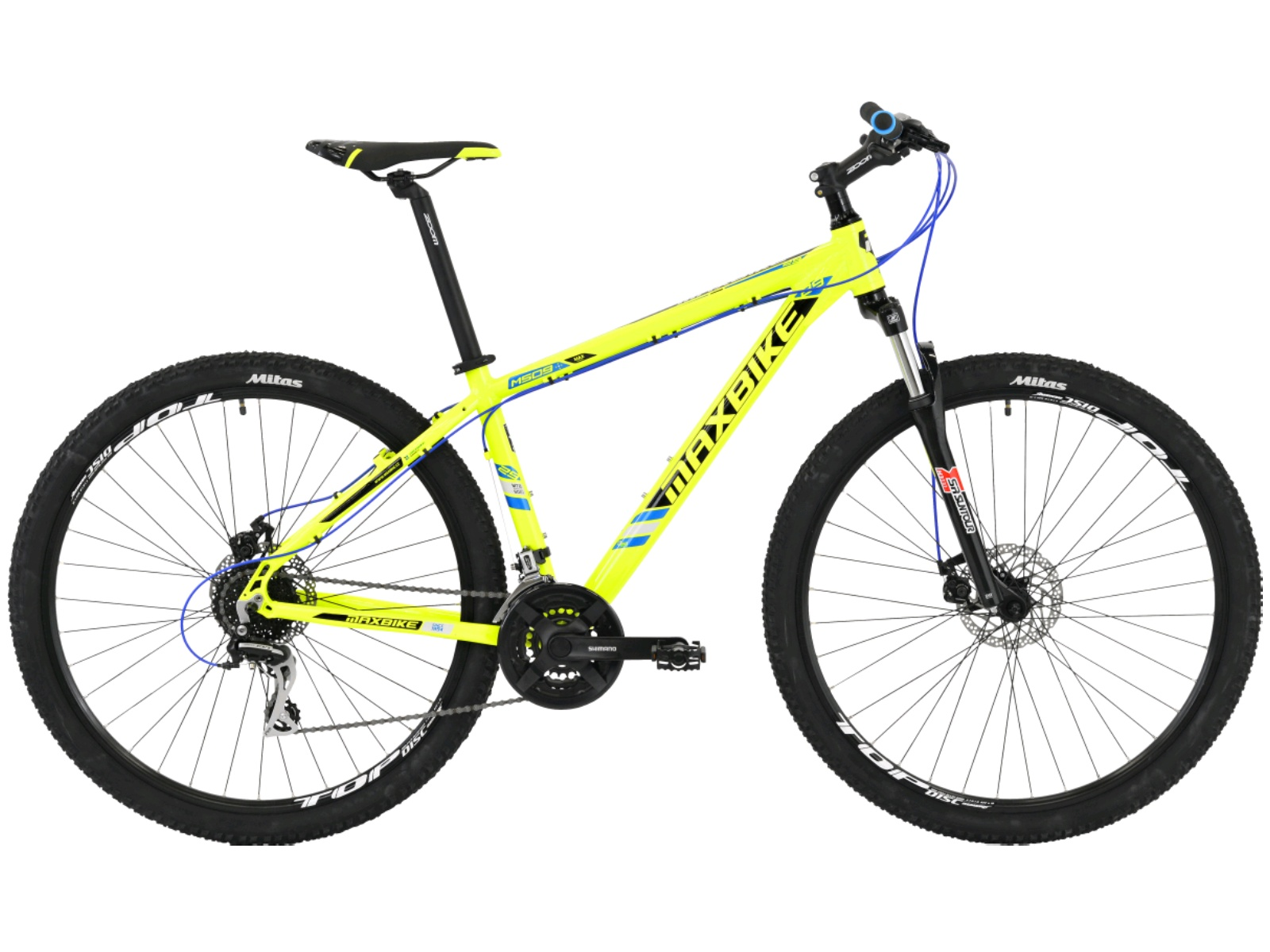 "Horský bicykel MAXBIKE Apo 29 zelené - veľ. rámu 17"""