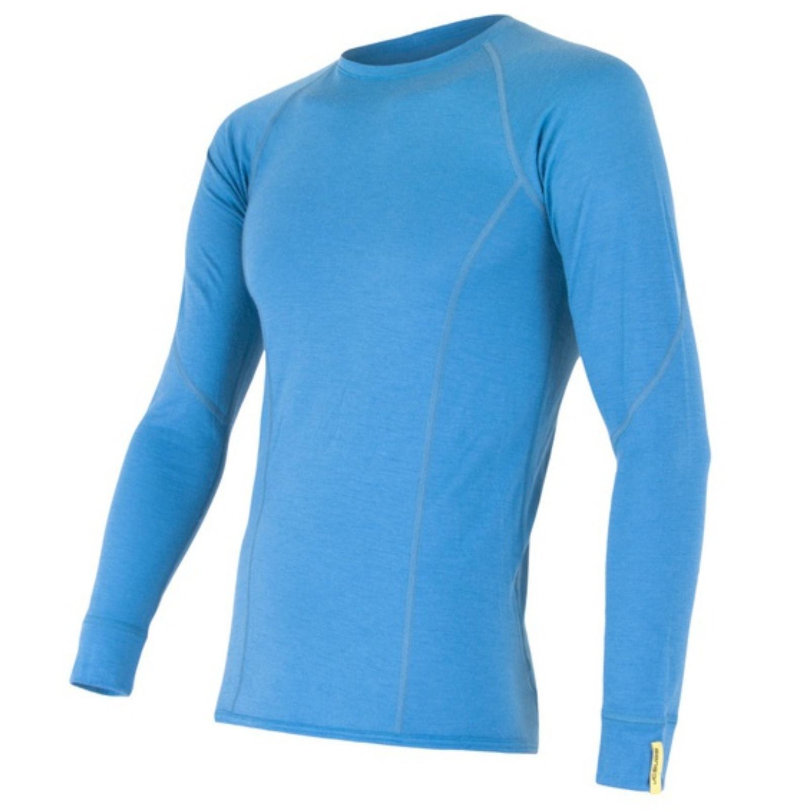 Tričko dl. ruk. SENSOR Merino Wool Active pánske modré - veľ. L