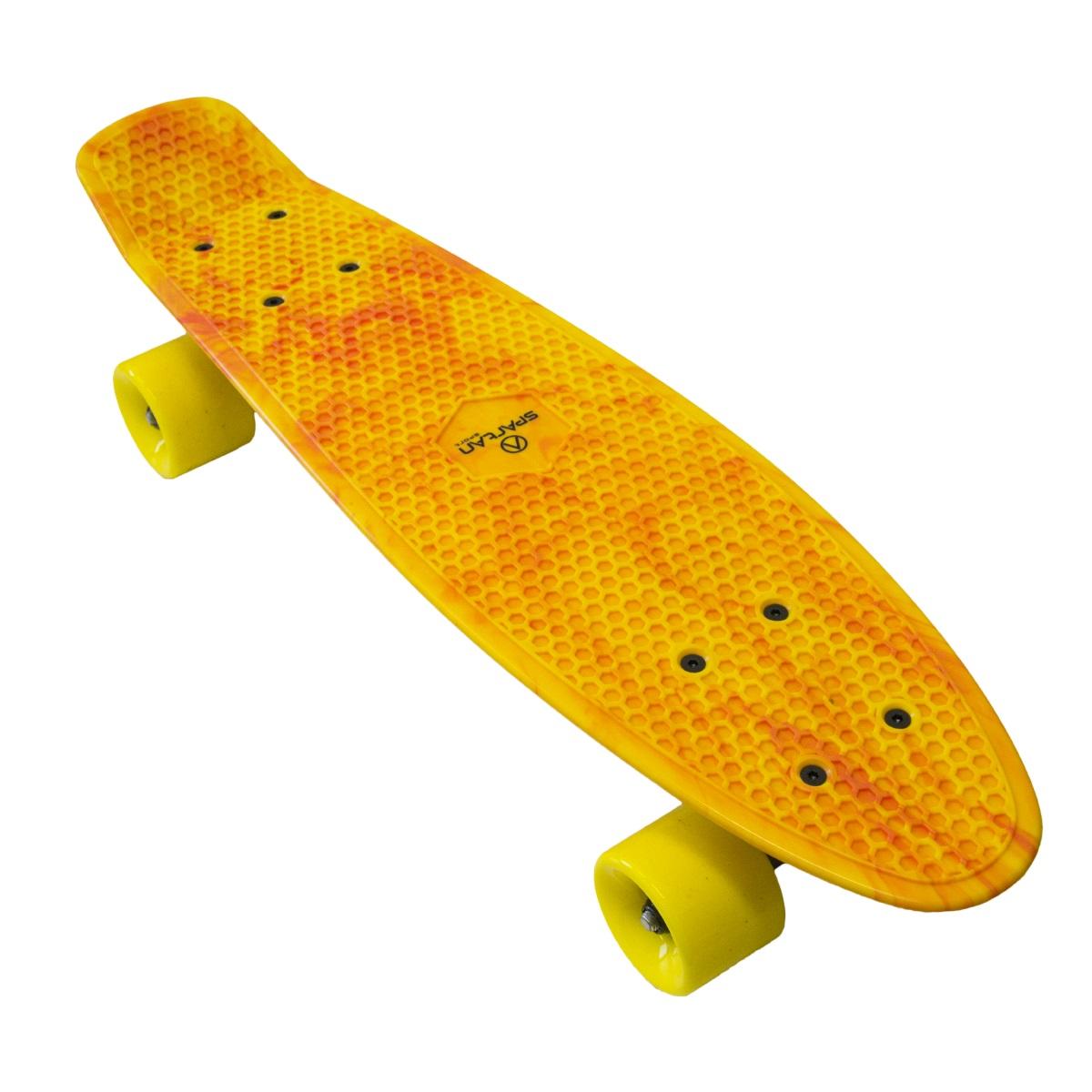 Plastic Penny Board SPARTAN - žltý