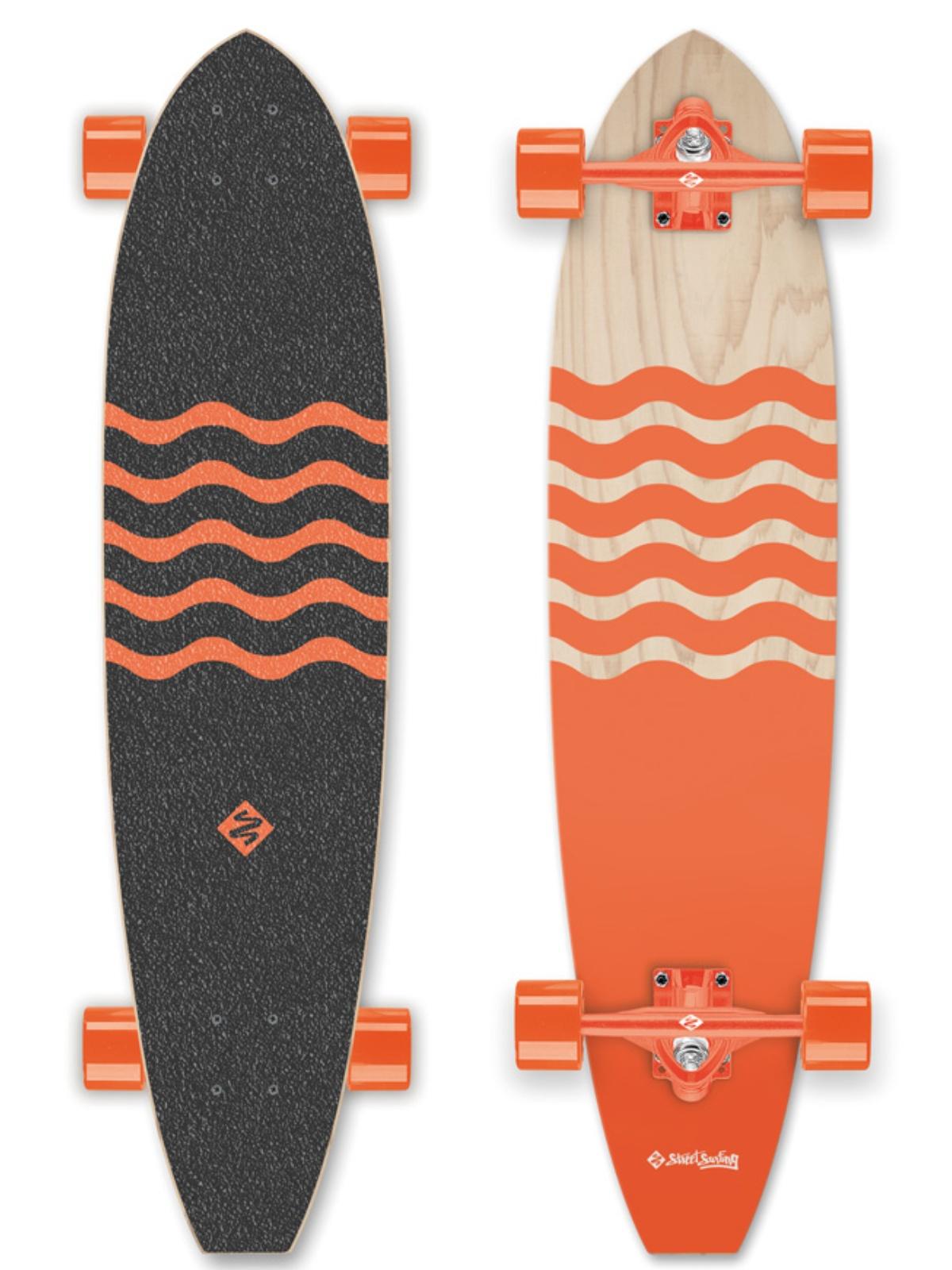 Longboard STREET SURFING Cut Kicktail 36 Blown Out