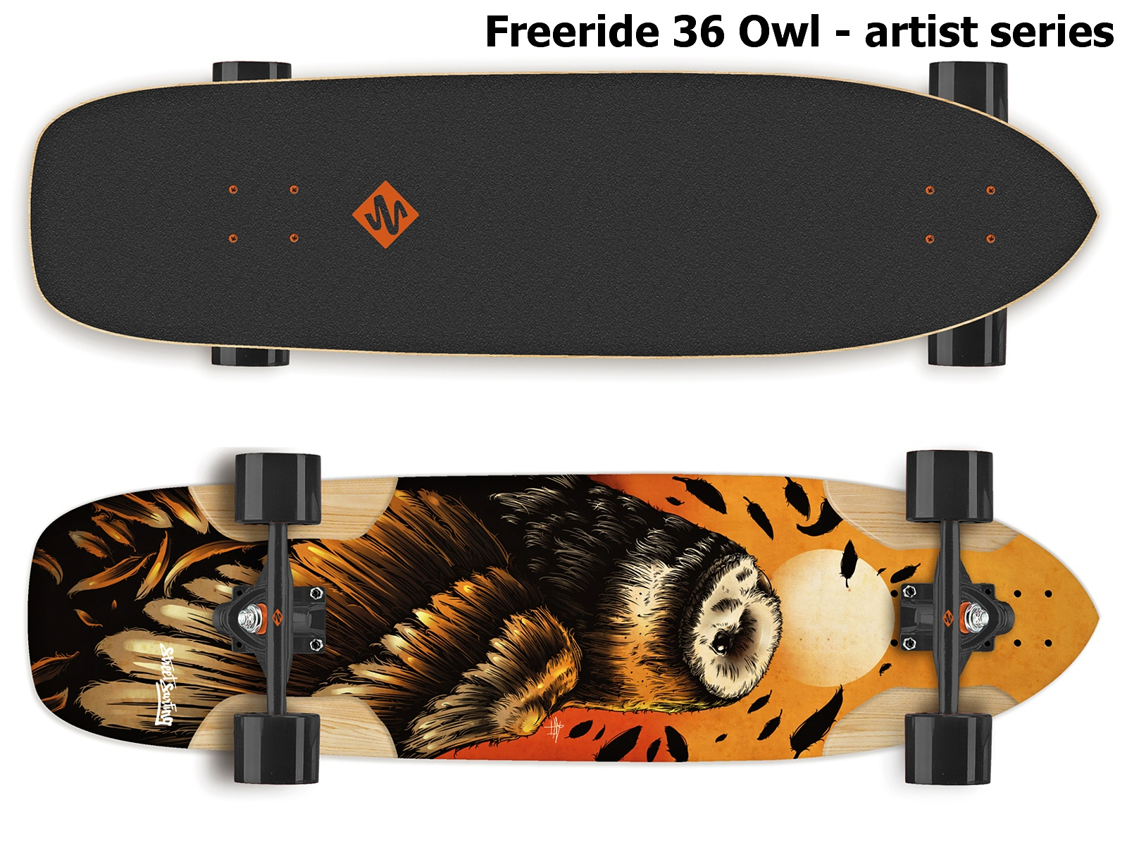 Longboard STREET SURFING Freeride 36 Owl