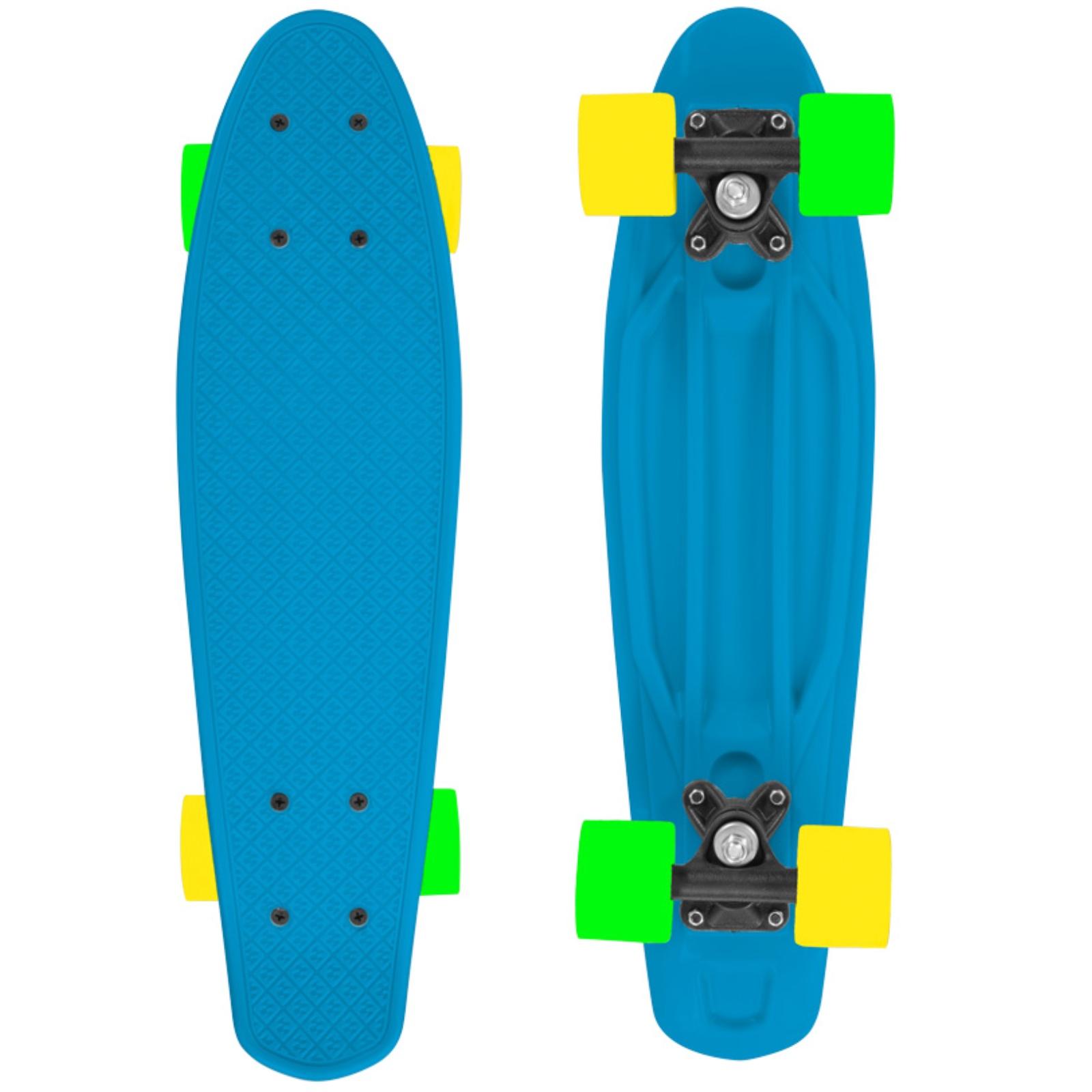 Skateboard STREET SURFING Fizz Board - modro-oranžový