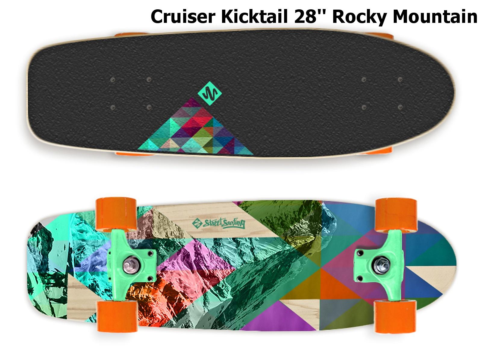 Skateboard STREET SURFING Cruiser Kicktail 28'' Rocky Mountain