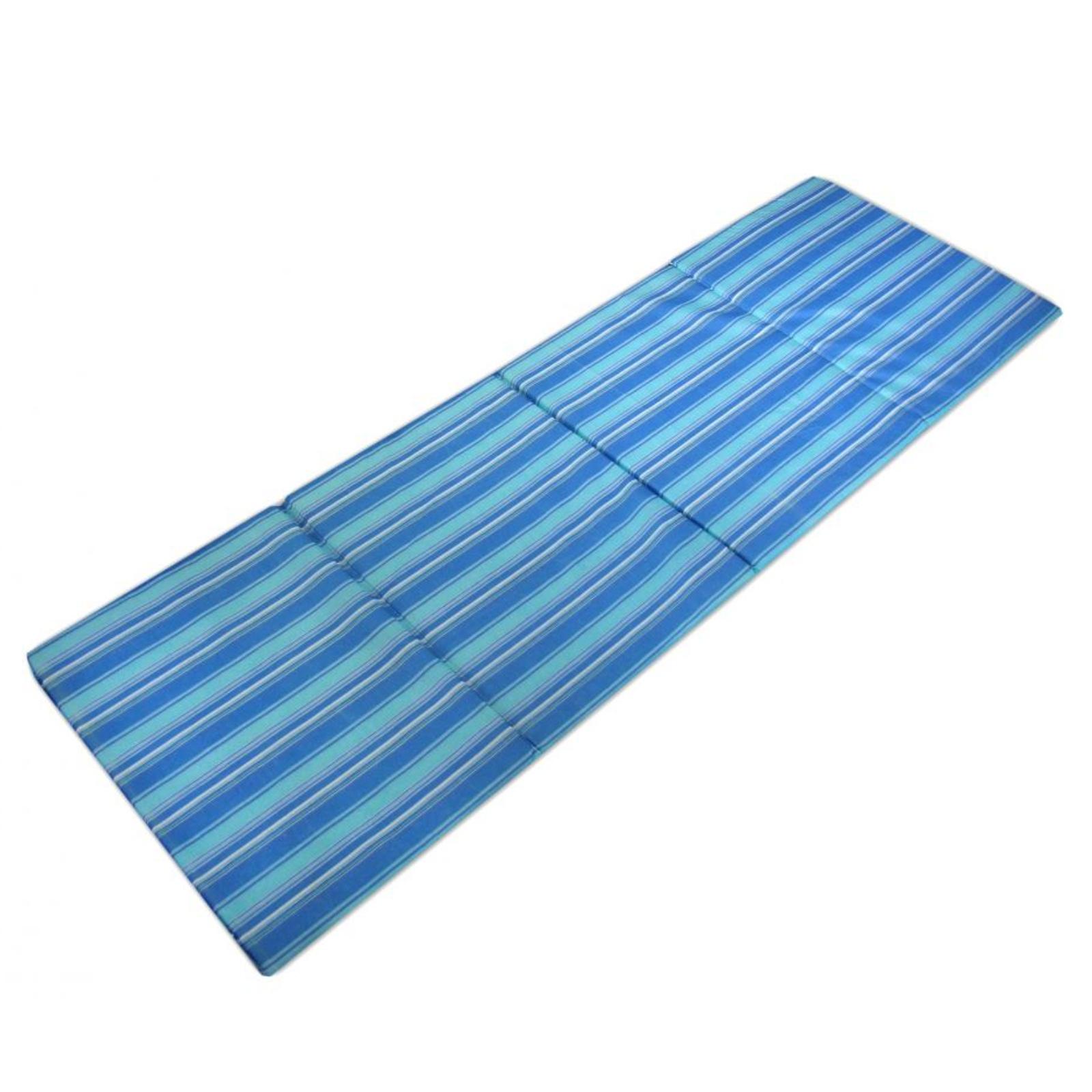 Plážové lehátko skladacie - modré