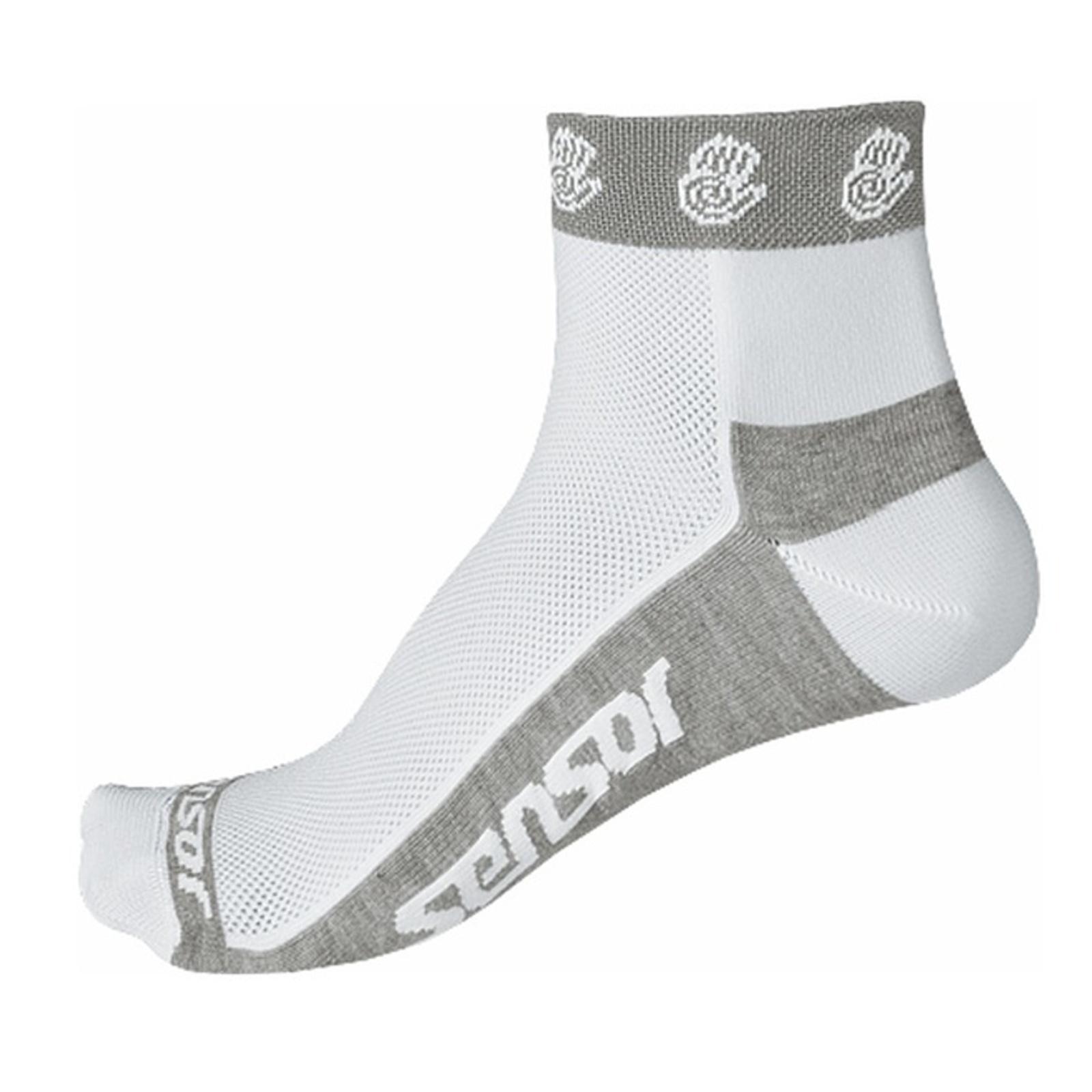 Ponožky SENSOR Race Lite Ručičky biele - veľ. 3-5
