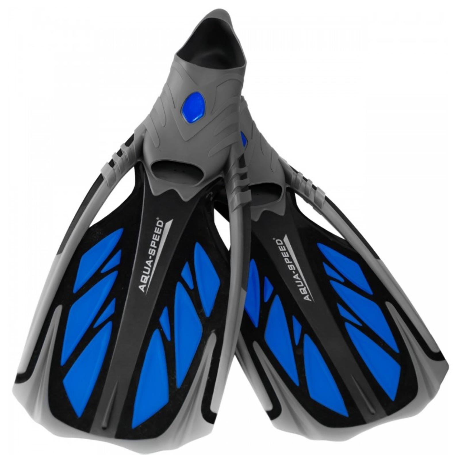 Plutvy AQUA-SPEED Inox modré - veľ. 38-39