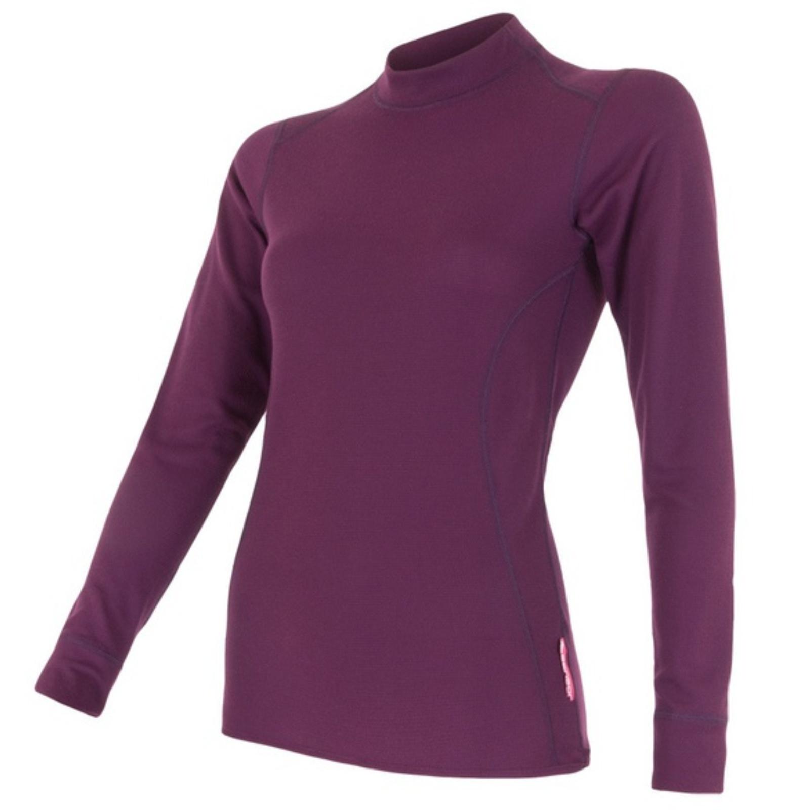 Tričko dlhý rukáv SENSOR Double Face dámske fialové