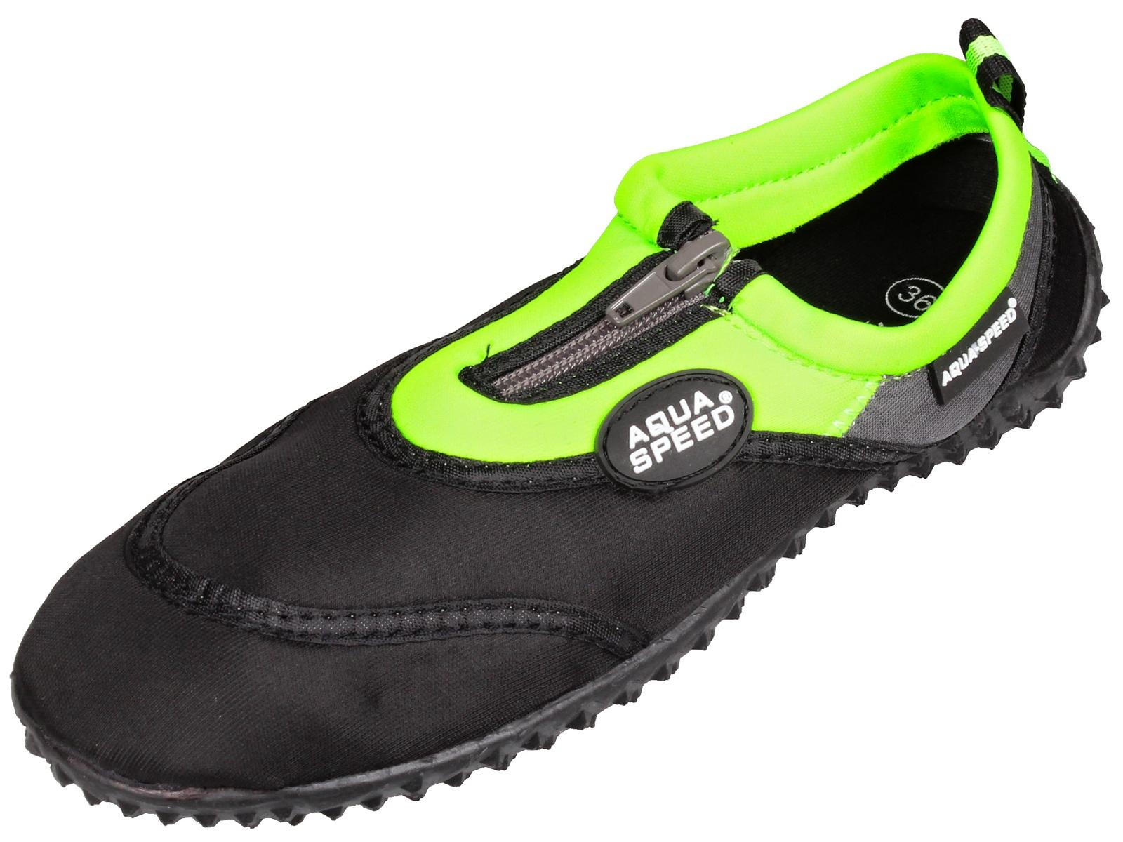 Topánky do vody AQUA-SPEED 4 čierno-zelené