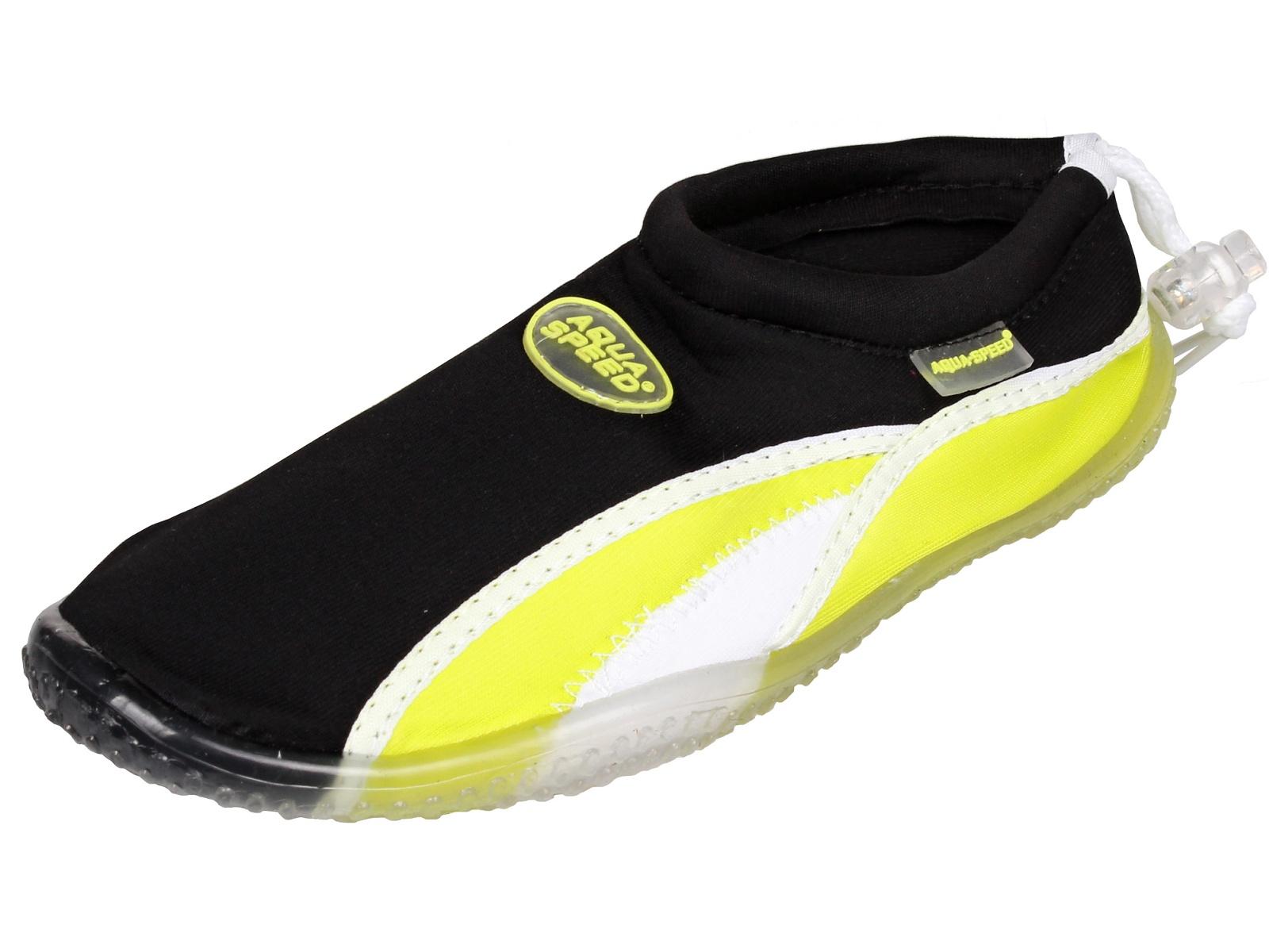 Topánky do vody AQUA-SPEED 12A čierno-zelené - veľ. 45